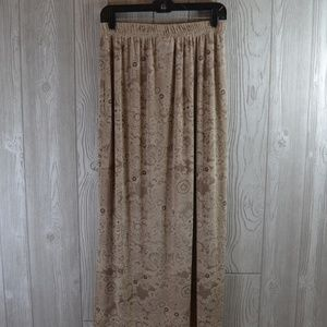 Avenue Skirts - Slinky Knit Skirt Beige PLUS SIZE 14 16